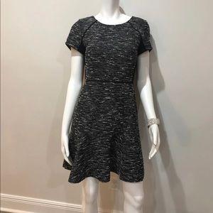 J.CREW BLACK & WHITE TWEED DRESS